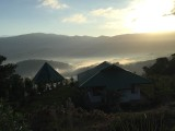 sunrise over guest house and ranchito