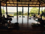 yoga class in pavilion
